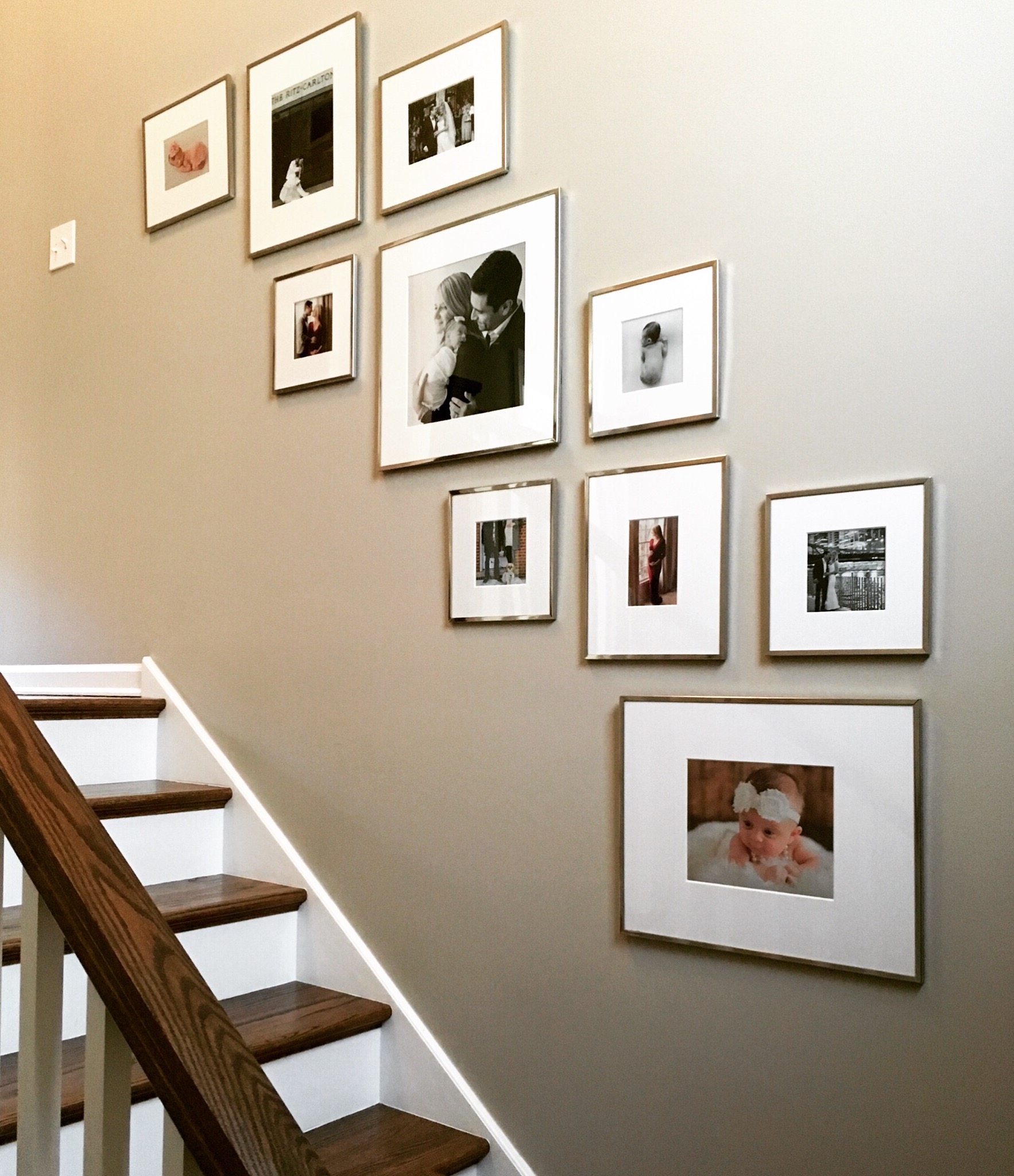I Wanted Our Photos To Be The Hero So I Kept The Frames Simple And Opted  For Modern, Elegant Ones From Pottery Barn (which Are On Sale Right Now !)